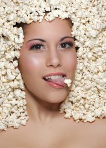 popcorn meisje